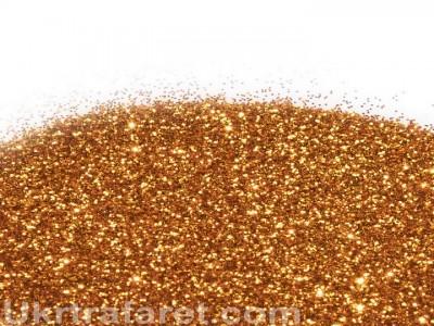 Глиттер золото красное 0,2 мм