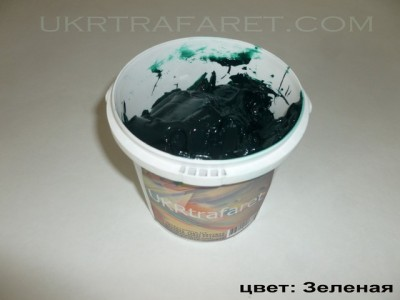 пластизольная краска зеленая